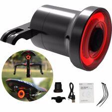 COB LED EnSca Objektiv Fahrrad Rücklicht Blinker Bremslicht USB Wiederaufladbar