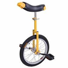 "Yellow Unicycle Cycling Cycle Circus Bike Skidproof 16"" Tire Balance Exercise"
