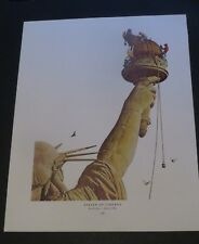 Norman Rockwell STATUE OF LIBERTY AND PLAYBILL Original Book Pressing Print