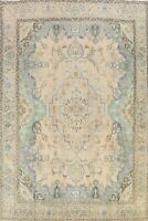 Floral Semi-Antique Tebriz Traditional Hand-knotted Area Rug Wool Oriental 10x13