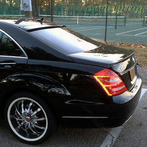 S350 S400 Painted For Mercedes BENZ S-Class W221 Sedan A Trunk Spoiler 2013