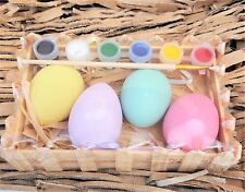 Paint Own Easter Egg Kit Home DIY Decoration Craft Gift Kids Gisela Graham ty