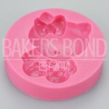 Hello Kitty With Slippers Silicone Mould Fondant Cake Decorating Sugarcraft Cat
