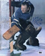 Johnny Bower Autographed 8x10 Photo Toronto Maple Leafs W/ HOF 76 Insc SGC