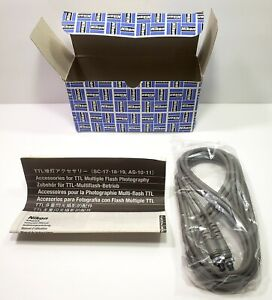NEW Genuine Nikon SC-19 10' (3m) Long Multi-Flash TTL Sync Cord w/Manual & Box