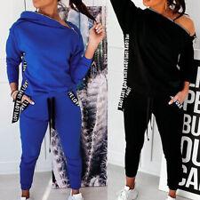 Damen Trainingsanzug Fitnessanzug Jogginganzug Sport Hoodie Sweatershirt Hosen
