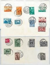 ROMANIA  - Stamps used on paper NOT FDC:  SEVERAL SETS 1931