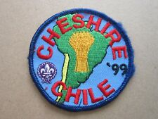 Cheshire Chile '99 Cloth Patch Badge Boy Scouts Scouting L4K C