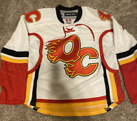 QUAD CITY FLAMES YOUTH MINOR LEAGUE HOCKEY JERSEY AHL YOUTH S/M Reebok Calgary