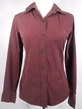 Beautiful Women's Medium Gap Stretch Purple Fitted Long Sleeve Button Blouse GUC