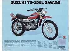 1974 Suzuki TS-250L Savage (246cc)  motorcycle sales brochure, (Reprint) $6.50