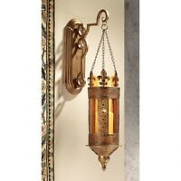 "21/"" H Royal Fleur de Lis Lit by Candle Outdoor Indoor Hanging Wall Sconce"