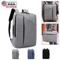 "Men Women 15.6"" Laptop Backpack School Bag Notebook Rucksack Briefcase Handbag"