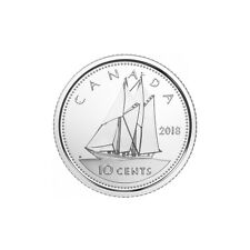 2018 CANADA 10 CENTS BRILLIANT UNCIRCULATED DIME COIN