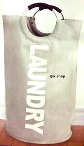 Deluxe Laundry Bag / Bin /  Baskets With Aluminium Handle 72 X 38 Cm