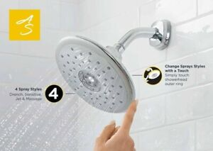 """American Standard SPECTRA TOUCH 4-Function 7"""" Shower Head, Polished Chrome"""
