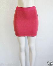 GUESS Women's Slip On Stretch Mini Skirt - Glitter Red sz XS/S