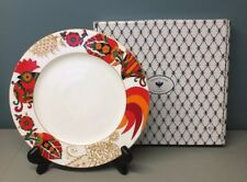 """Russian Imperial Lomonosov Porcelain 22Kt Gold Red Rooster Cockerel 10"""" Plate"""