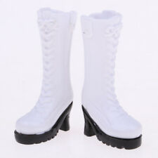 "White Waterproof Boots Shoes for 12"" Blythe Takara Azone Doll Cosplay Outfit"