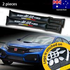 2x For Honda MUGEN Car Seat Space Gap Pad Filler Stopper Leakproof Protector BLK