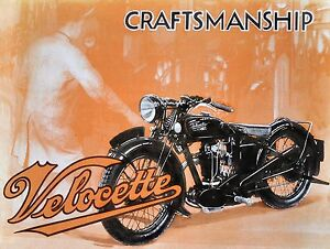 Velocette motorcycle 1933 vintage poster reprint