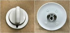 8 x (Metal Piece) White Knob for General Electric Hotpoint GE Dryer # WE1M654