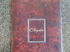 CHRYSLER BY CHRYSLER (VALIANT) 1972 CH PLUS CLR CHART BROCHURE. 100% GUARANTEE.
