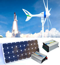 650 W 12V Wind Generator+1000 W Controller+600 W Inverter+ 2 x 100 W Solar Panel