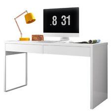 Mesa de ordenador para despacho escritorio para oficina estudio Blanco Brillo