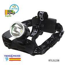 Linterna Frontal de Cabeza CREE impermeable XLM T6 LED Recargable 1800 lumenes