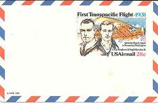 Estados Unidos. Entero Postal First Transpacific Flight