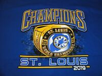 New St. Louis Blues Stanley Cup 2019 Champions Ring T-Shirt  XL - Extra Large