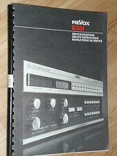 REVOX  B 261  instructions de service
