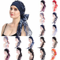 Women Hair Loss Scarf Cancer Chemo Cap Muslim Turban Hat Hijab Head Wrap Scarves