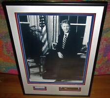 President Bill Clinton Signed / Autographed 3x5 Card Framed with 16x20 PSA DNA