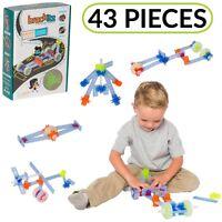 43pc Brackitz STEM Driver Set: Fun Learning Educational Building Vehicle Toy
