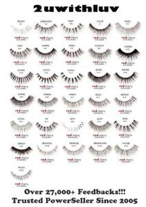 AUTHENTIC RED CHERRY 100% HUMAN HAIR BLACK FALSE EYE LASHES AUTHORISED RESELLER