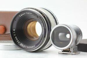 【N MINT w/ Finder 】 Canon 35mm f/1.8 Lens for LTM L39 Leica Screw L Mount JAPAN