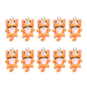 10Pcs Resin Cat Cute Animal Charms Pendant DIY Making Earring Jewelry CraF2