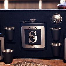 Personalized Monogram Flask Gift Box +Funnel +Shots, Wedding, Birthday,Groomsman