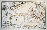 Hameln Hastenbeck Emmern Ohsen Tunderen  Weser Schlacht 1757 Kupferstich 1800