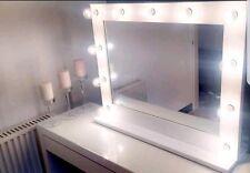 Hera vanidad: Hollywood Espejo De Vanidad Con Luces (Blanco) - 860mm X 690mm