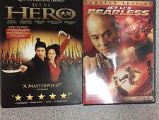 Jet Li: Hero (New), Fearless (Like New)