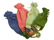 Hat 100% MERINO WOOL baby child children boy girl hand knit knitted winter smart