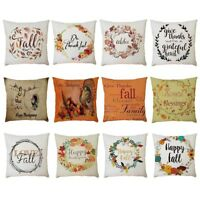 Home Car Bed Sofa Decorative Letter Pillow Case Cushion Cover Home Decor