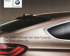 Prospekt BMW Concept 5er Gran Turismo 2009 Autoprospekt Auto PKWs brochure GT