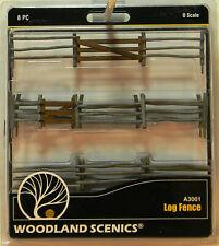 NEW O Woodland Scenics A3001 Log Fence