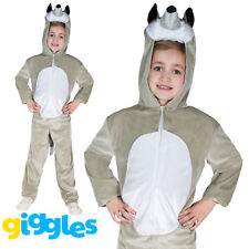 Girls & Boys Wolf Costume World Book Day Week Fancy Dress Outfit Jumpsuit