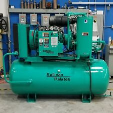 Used Sullivan Palatek 50DG 50 HP Rotary Screw Air Compressor Low Hours 480V
