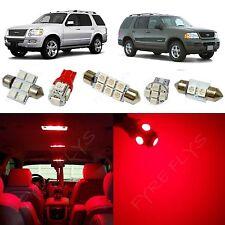 8x Red LED lights interior package kit for 2002-2010 Ford Explorer FX1R